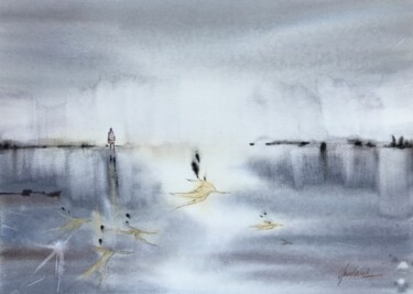 """Painting titled """"Alone"""" by Julia Bunkevich, Original Art, Watercolor"""