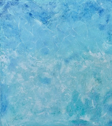 """Painting titled """"Atlantic Ocean"""" by Juliana Sol, Original Art, Oil Mounted on Stretcher frame"""
