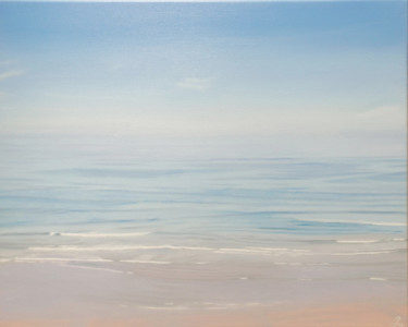 """Painting titled """"No shore"""" by Julija Usoniene, Original Art, Oil Mounted on Stretcher frame"""