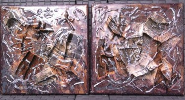 Religion Painting, cardboard, abstract, artwork by Just Funda