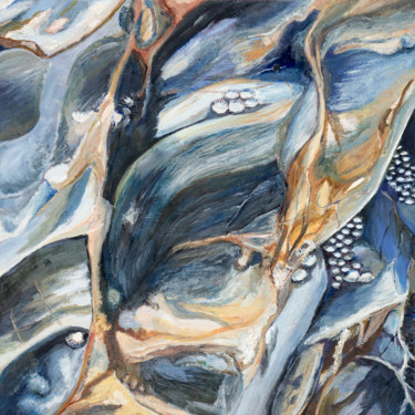 Nature Painting, oil, abstract, artwork by Jutta Blühberger