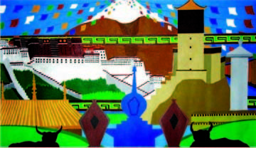 11.8x19.7 in ©2007 by Kalsang Dickyi