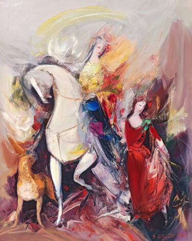 """Painting titled """"Queen (70x90cm, oil…"""" by Kamo Atoyan, Original Art, Oil Mounted on Stretcher frame"""