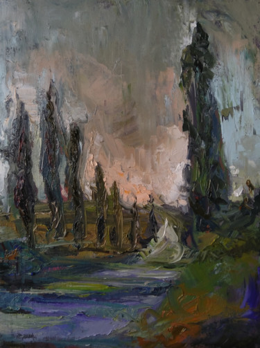 """Painting titled """"Wind 30x40cm ,oil/c…"""" by Kamsar Ohanyan, Original Art, Oil Mounted on Stretcher frame"""