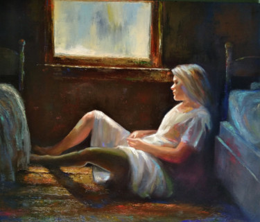 """Painting titled """"Warm morning 60x70c…"""" by Kamsar Ohanyan, Original Art, Oil Mounted on Stretcher frame"""