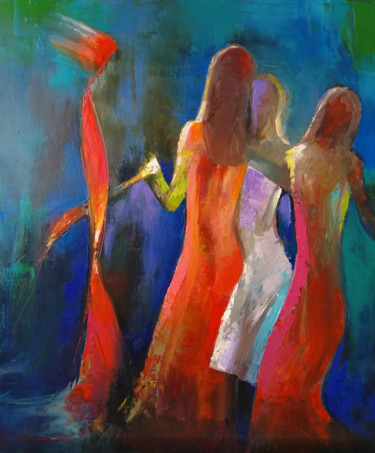 """Painting titled """"Victory dance 60x50…"""" by Kamsar Ohanyan, Original Art, Oil Mounted on Stretcher frame"""