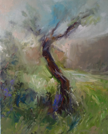"""Painting titled """"Storm (40x50cm, oil…"""" by Kamsar Ohanyan, Original Art, Oil Mounted on Stretcher frame"""