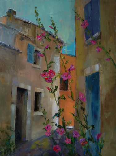 """Painting titled """"Alley (58x78cm oil…"""" by Kamsar Ohanyan, Original Art, Oil Mounted on Stretcher frame"""