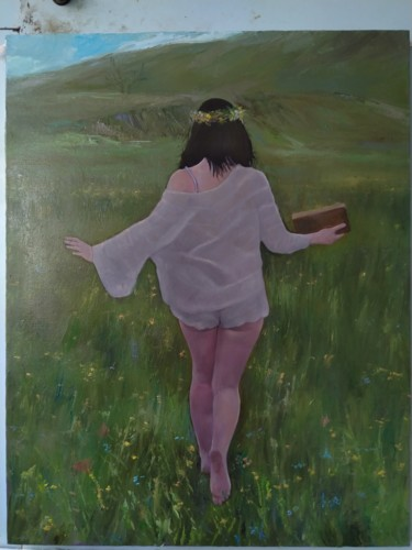 """Painting titled """"In freedom (55x70cm…"""" by Kamsar Ohanyan, Original Art, Oil Mounted on Stretcher frame"""