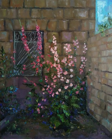"""Painting titled """"Summer (40x50cm, oi…"""" by Kamsar Ohanyan, Original Art, Oil Mounted on Stretcher frame"""