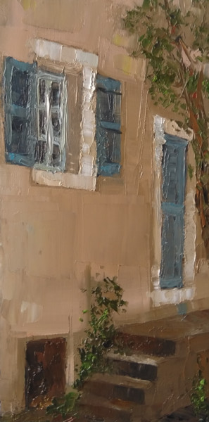 """Painting titled """"Summer day (17x34cm…"""" by Kamsar Ohanyan, Original Art, Oil Mounted on Stretcher frame"""