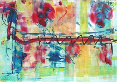 """Painting titled """"Large Abstract Pain…"""" by Matilde Cánepa González, Original Art, Acrylic"""