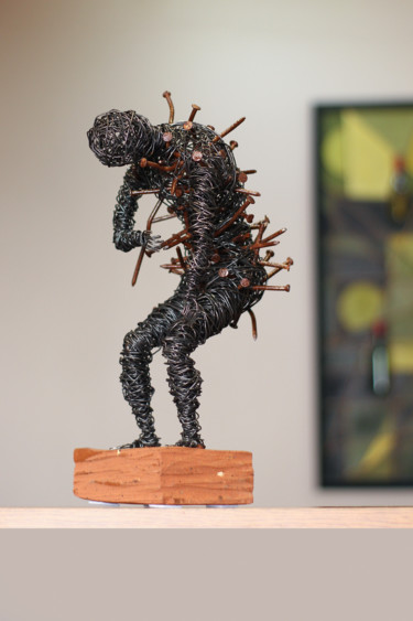 Men Sculpture, metals, figurative, artwork by Karen Axikyan