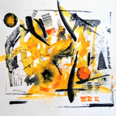 """Painting titled """"Yellow Mad"""" by Karine Andriasyan, Original Art, Watercolor"""