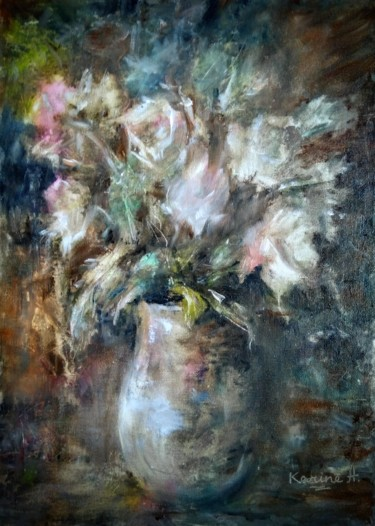 """Painting titled """"Vintage Bouquet"""" by Karine Andriasyan, Original Art, Oil"""