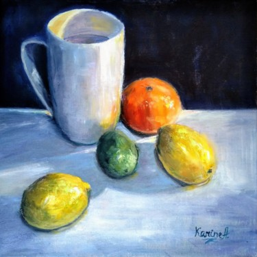 """Painting titled """"Jolly Citruses"""" by Karine Andriasyan, Original Art, Oil"""