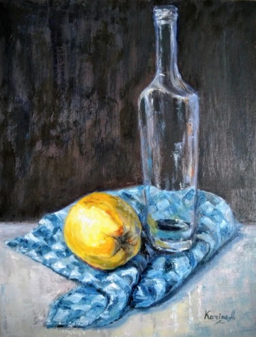 """Painting titled """"Still Life With a Q…"""" by Karine Andriasyan, Original Art, Oil"""