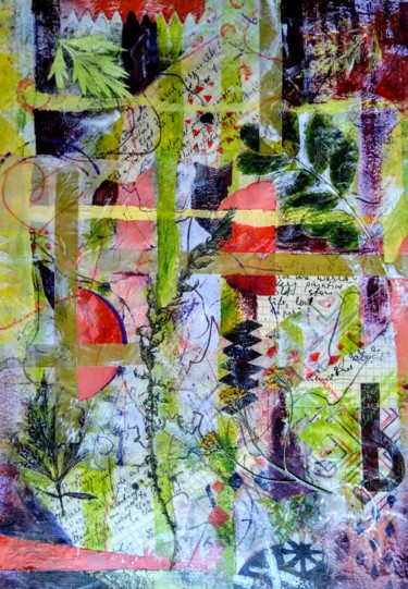 """Collages titled """"Summer Night"""" by Karine Andriasyan, Original Art, Collages"""