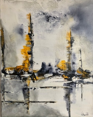 """Painting titled """"Catamaran"""" by Karl Blanchet, Original Art, Acrylic Mounted on Stretcher frame"""