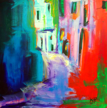 """Painting titled """"Vicolo"""" by Kasia Pawlak, Original Art, Acrylic Mounted on Stretcher frame"""