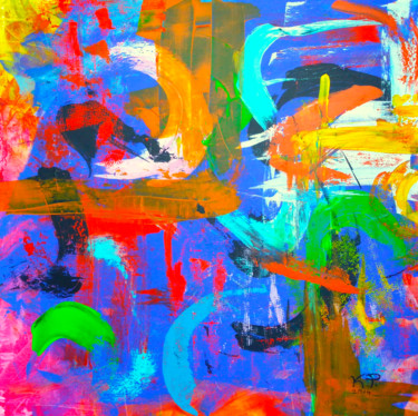 """Painting titled """"POP"""" by Kasia Pawlak, Original Art, Acrylic Mounted on Stretcher frame"""