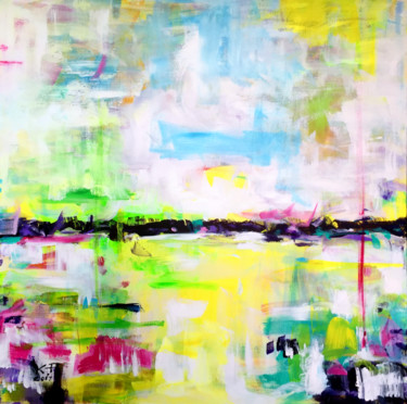 """Painting titled """"March"""" by Kasia Pawlak, Original Art, Acrylic Mounted on Stretcher frame"""
