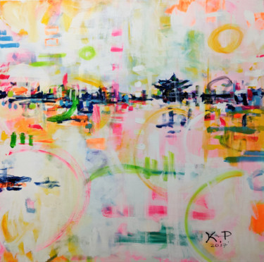 """Painting titled """"Asian Spring"""" by Kasia Pawlak, Original Art, Acrylic Mounted on Stretcher frame"""
