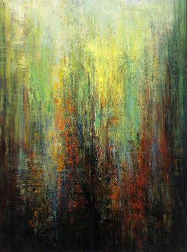 """Painting titled """"Abstract Dirty Gree…"""" by Kateryna Fedotova, Original Art, Acrylic Mounted on Stretcher frame"""