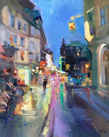 Urban Painting, oil, impressionism, artwork by Katharina Valeeva