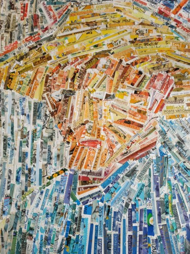 Collages, collages, impressionism, artwork by Leka