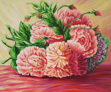 """Painting titled """"flowers-for-you.jpg"""" by Katreen Queen, Original Art, Oil"""