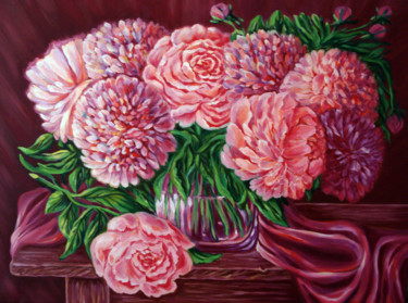 """Painting titled """"roses-and-peony.jpg"""" by Katreen Queen, Original Art,"""