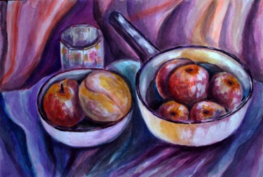 """Painting titled """"ready-for-the-fruit…"""" by Katreen Queen, Original Art, Acrylic"""