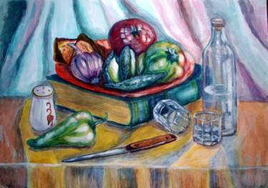 """Painting titled """"the-historian-lunch…"""" by Katreen Queen, Original Art, Acrylic"""