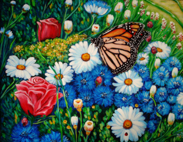 """Painting titled """"it-was-a-butterfly.…"""" by Katreen Queen, Original Art, Acrylic"""