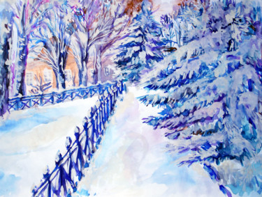 """Painting titled """"the-way-home.jpg"""" by Katreen Queen, Original Art, Watercolor"""
