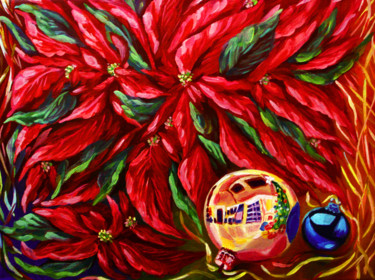 """Painting titled """"feeling-of-christma…"""" by Katreen Queen, Original Art, Oil"""