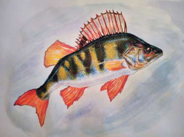 """Painting titled """"The Perch"""" by Katreen Queen, Original Art, Watercolor"""