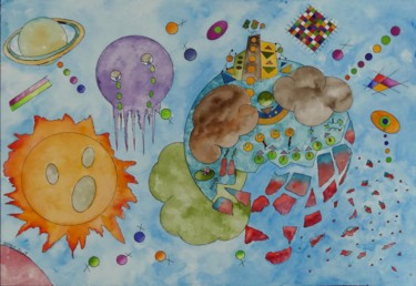 """Painting titled """"extinction"""" by Kpbc, Original Art, Watercolor"""
