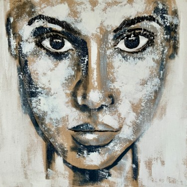 """Painting titled """"Portrait no. 1692"""" by Anita Kaufmann, Original Art, Acrylic Mounted on Stretcher frame"""