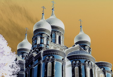 """Photography titled """"Orthodoxe Kirche"""" by Karl Milde, Original Art, Manipulated Photography"""