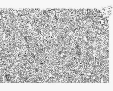 """Design titled """"Puzzle"""" by Keith Haring, Original Art, Accessories"""