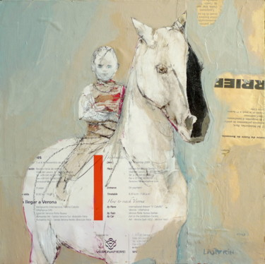 Collages Cheval, collages, figuratif, œuvre d'art par Laurence Poitrin
