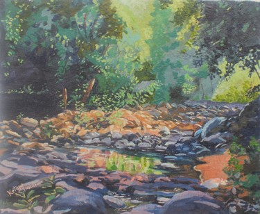 """Painting titled """"wilderness."""" by Ketansinh Chauhan, Original Art, Oil"""