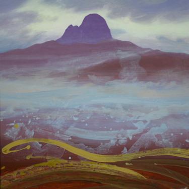 Mountainscape Painting, acrylic, spiritual art, artwork by Kevan Mcginty