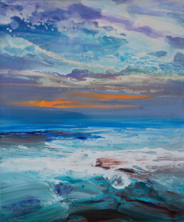 Seascape Painting, acrylic, expressionism, artwork by Kevan Mcginty