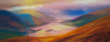 Mountainscape Painting, acrylic, fauvism, artwork by Kevan Mcginty
