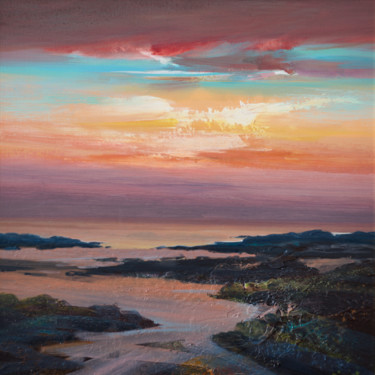 """Painting titled """"BEACH AT ARDNAMURCH…"""" by Kevan Mcginty, Original Art, Acrylic Mounted on Other rigid panel"""
