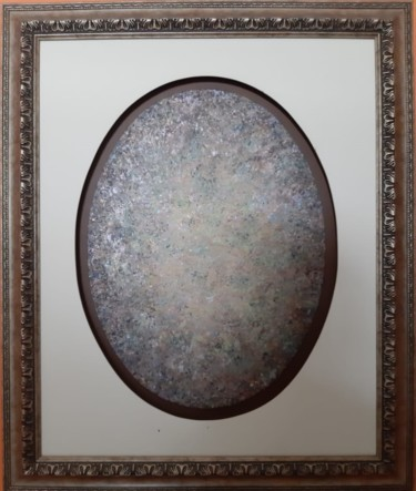 """Painting titled """"Gray Oval Whirling…"""" by Khusro Subzwari, Original Art, Acrylic"""