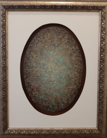 """Painting titled """"Brown Oval Whirling…"""" by Khusro Subzwari, Original Art, Acrylic"""